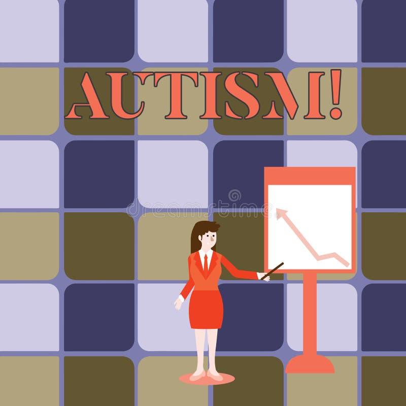 Autisme d'écriture des textes d'écriture Concept signifiant la conscience d'autisme conduite par le comité social dans le monde e illustration de vecteur