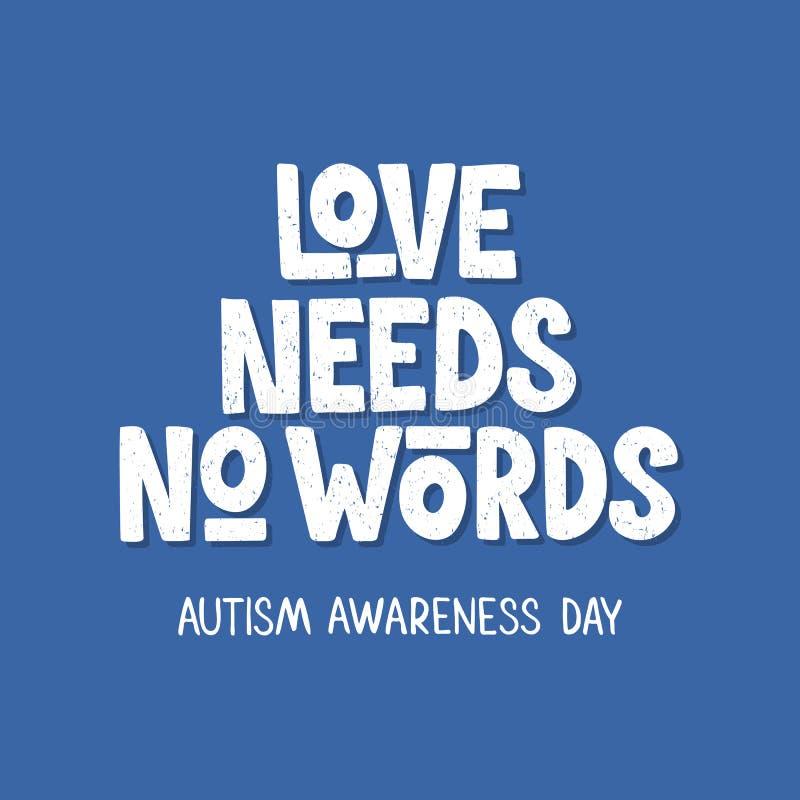 Autisme hand het getrokken van letters voorzien royalty-vrije illustratie