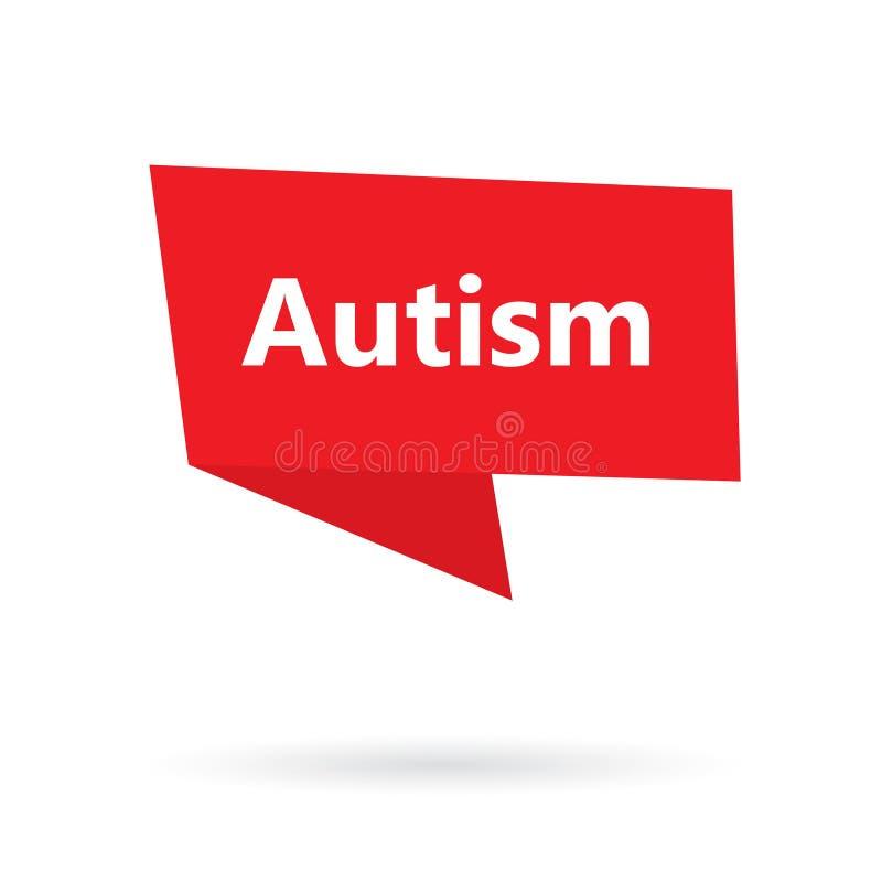 Autisme op toespraakbel stock illustratie