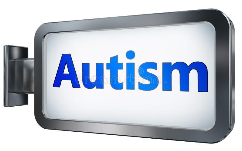 Autisme sur le fond de panneau d'affichage illustration stock