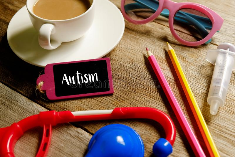 autismevoorlichting stock afbeelding