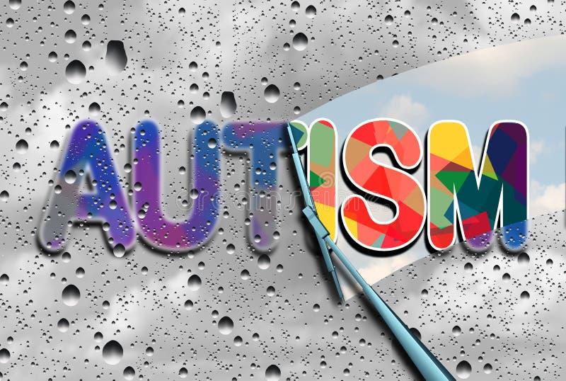 autismmedvetenhet royaltyfri illustrationer