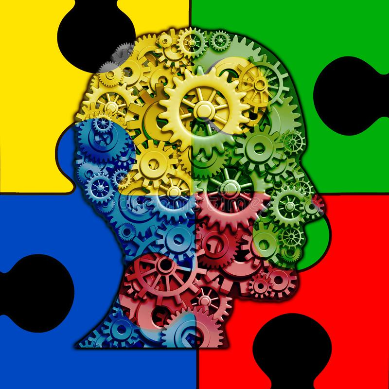 Autismo Brain Function royalty illustrazione gratis