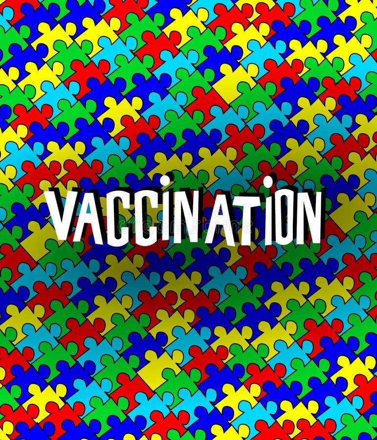 Autismo y vacunación stock de ilustración