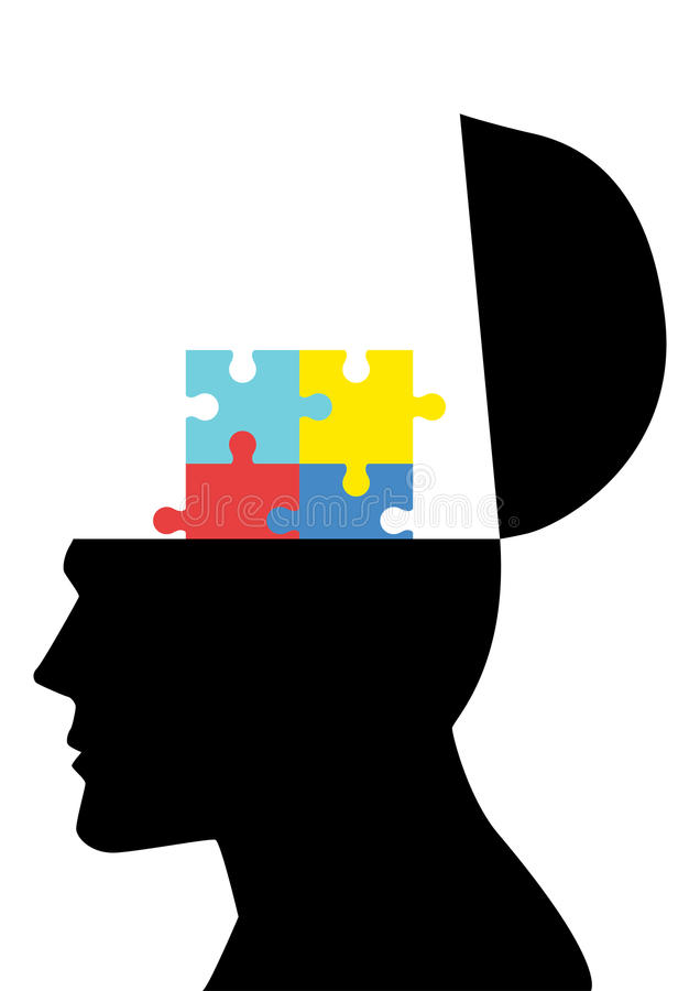 Autismus-Syndrom-Ikone stock abbildung