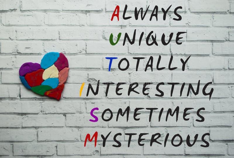 Autismusbewusstseinskonzept lizenzfreies stockbild