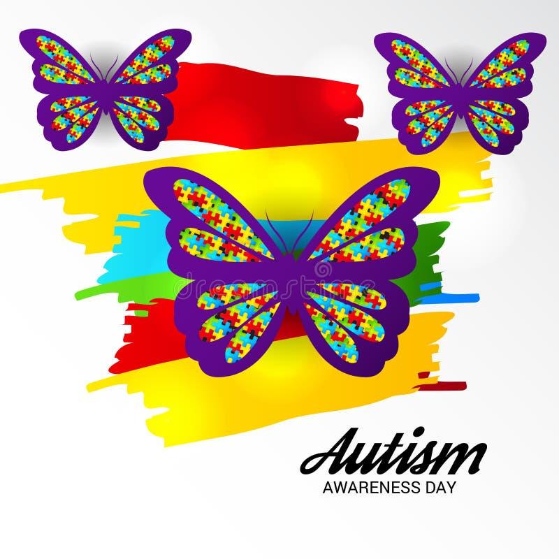 Autismusbewusstseinstag lizenzfreie abbildung