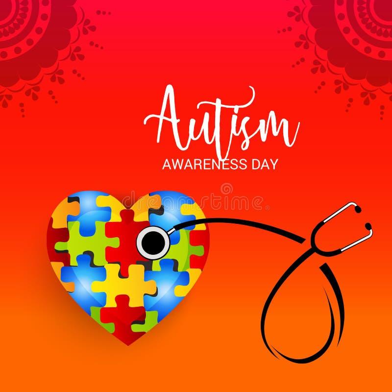 Autismusbewusstseinstag stock abbildung