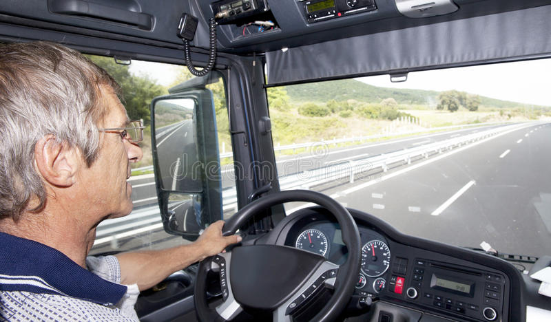 Autista di camion fotografia stock