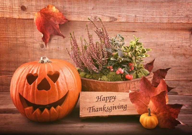 Autmnbloemen en pompoen Halloween stock foto's