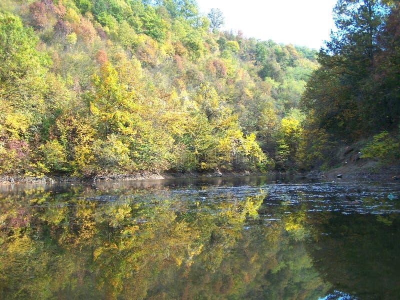 autmun的湖Celije 库存照片