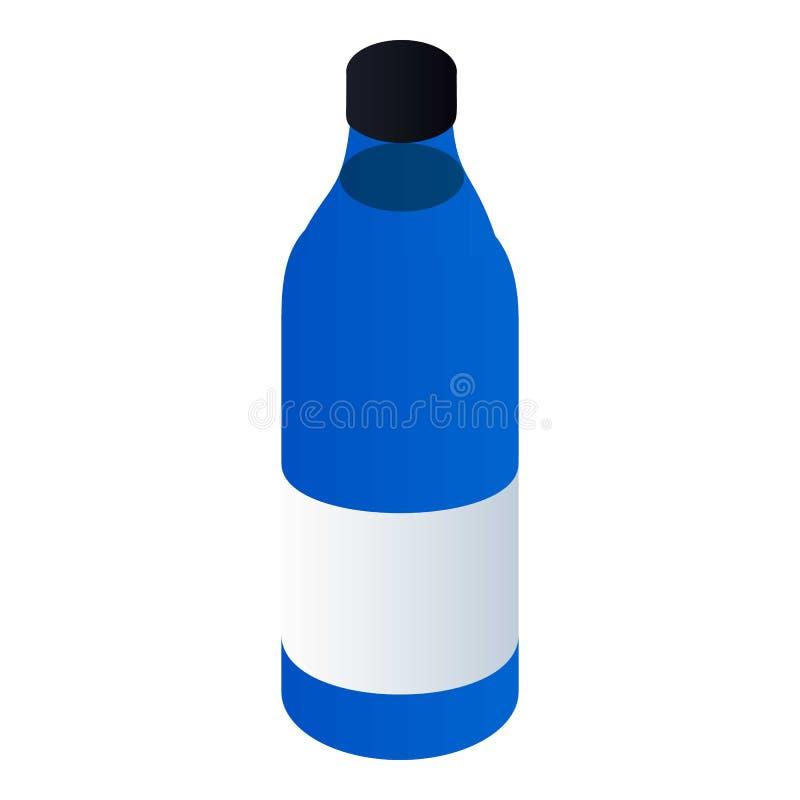 Autoölflaschenikone, isometrische Art lizenzfreie abbildung