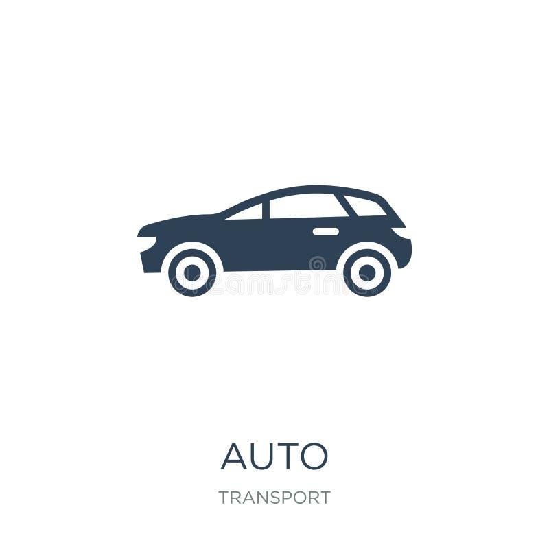 auto ícone no estilo na moda do projeto Auto ícone isolado no fundo branco símbolo liso simples e moderno do auto ícone do vetor  ilustração do vetor