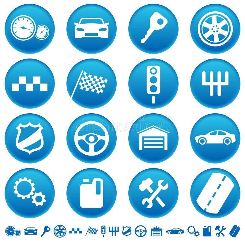 Auto ícones ilustração royalty free