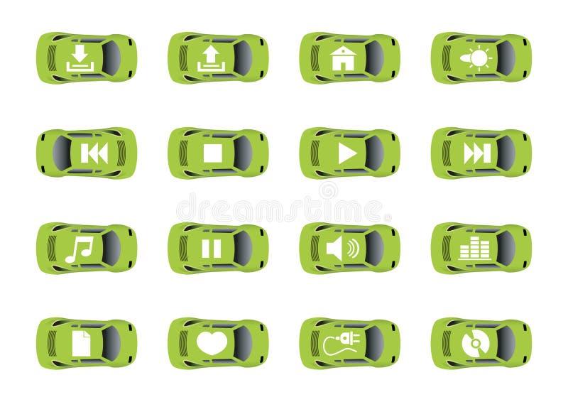 Auto ícones 2 do Web ilustração stock