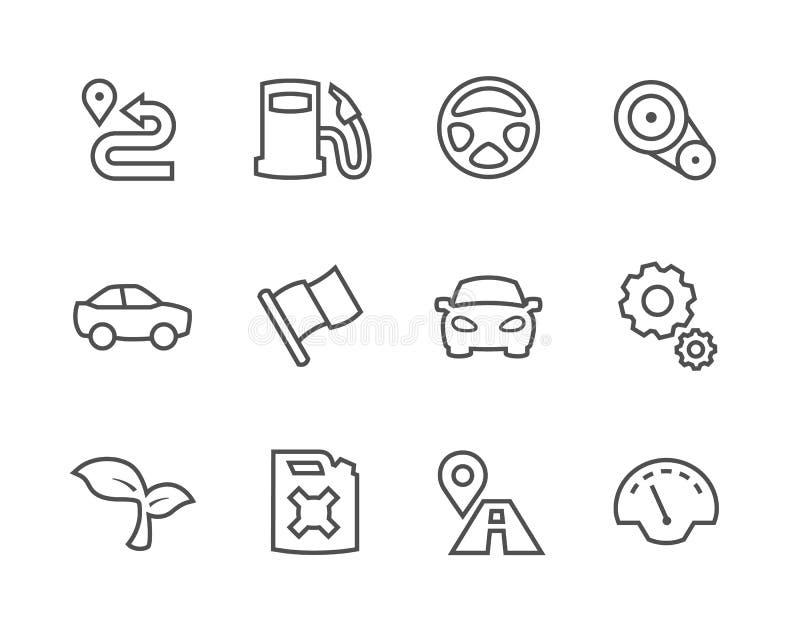 Auto ícones afagados ilustração royalty free