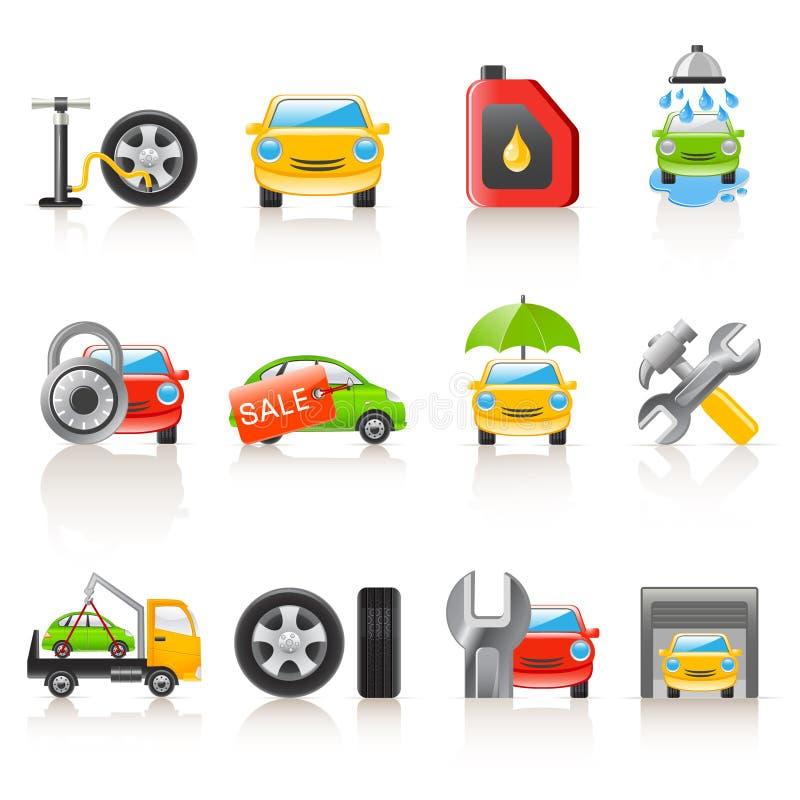 Auto ícones do serviço ilustração stock
