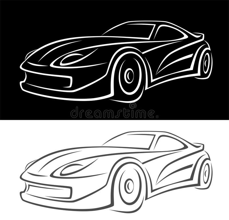Auto royalty free illustration