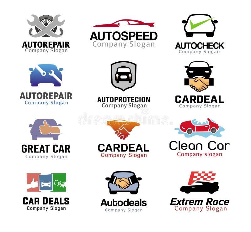Auto-Abkommen und und Logo Repair Design stock abbildung