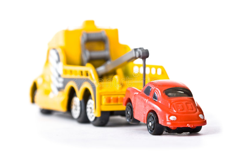 Auto achter trowtruck (1) stock afbeeldingen