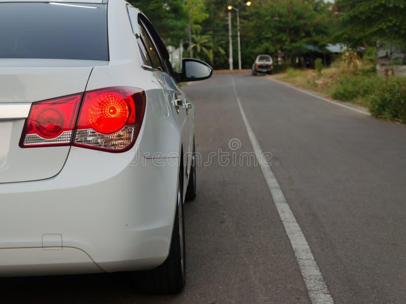 Auto achterlichten royalty-vrije stock afbeelding