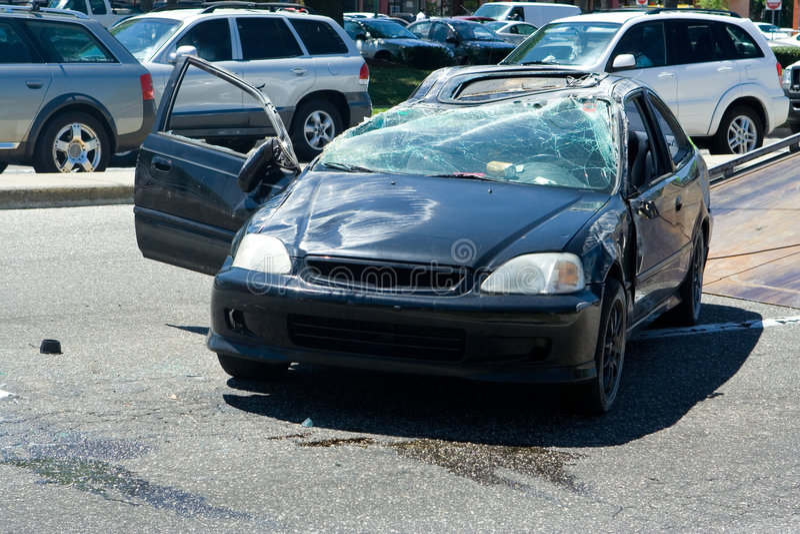 Auto acidente fotos de stock