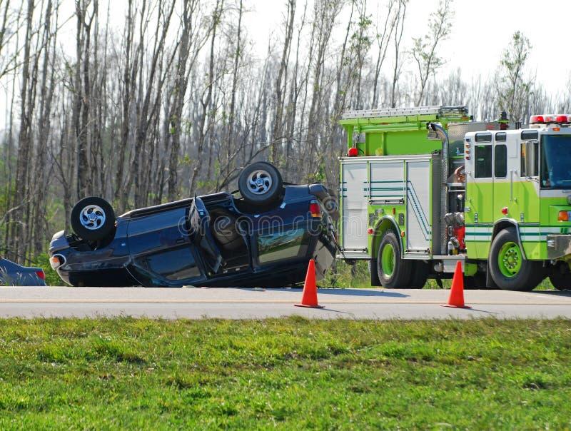 Auto acidente trágico fotografia de stock