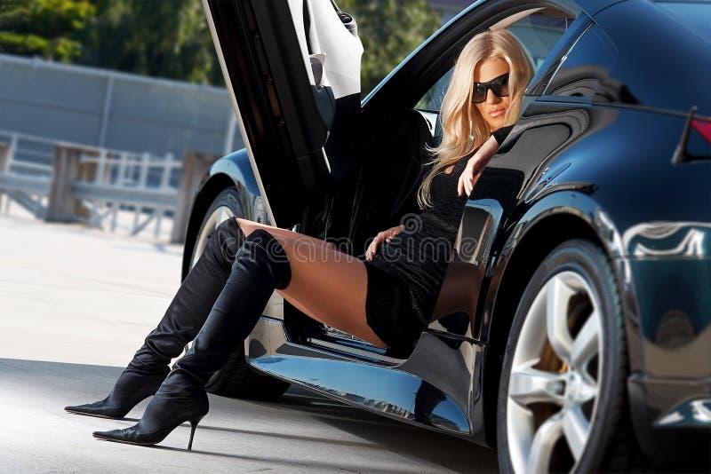 Auto & babe stock foto's
