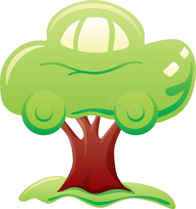 Auto auf Baum lizenzfreie abbildung