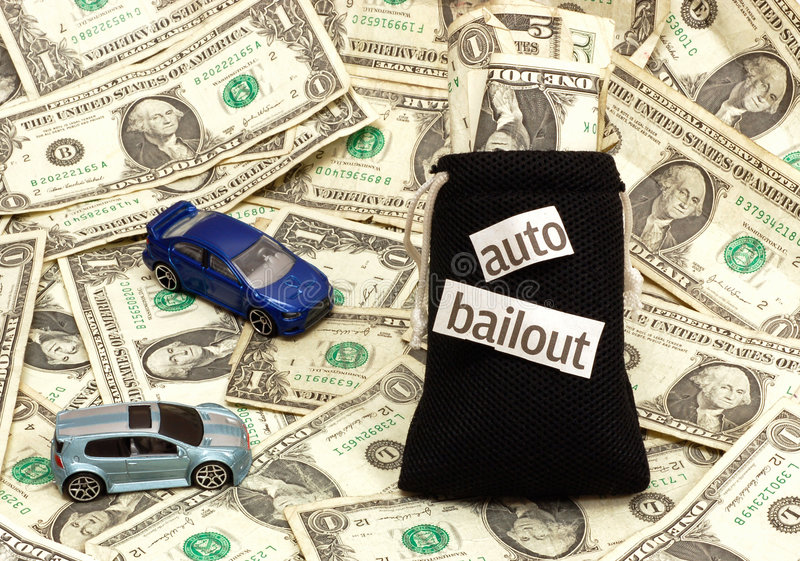 Auto Bailout royalty-vrije stock afbeelding