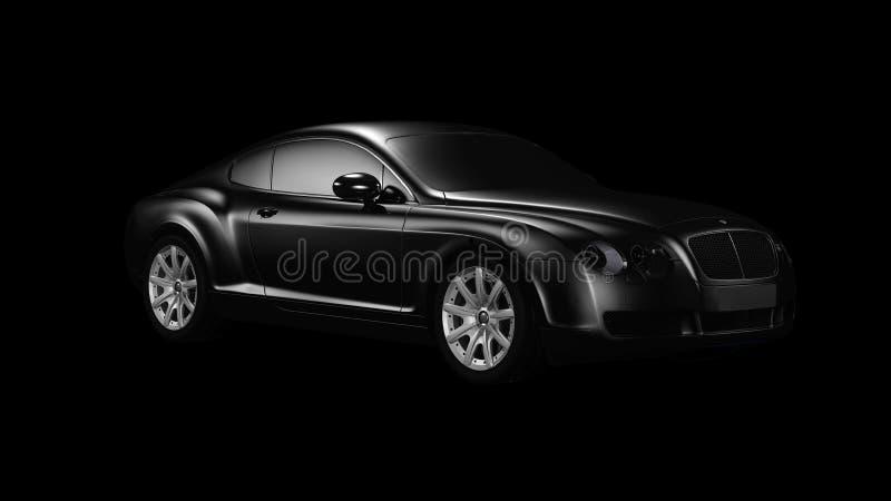 Auto, Bentley Continental Gt, Schwarzes, Kraftfahrzeug lizenzfreie stockbilder