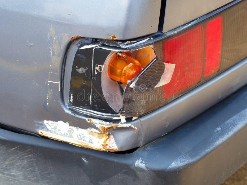 Auto beschädigt lizenzfreies stockfoto