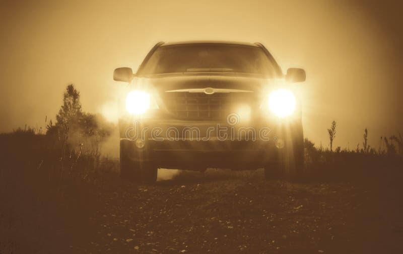 Auto bij nacht, lichten  stock foto's