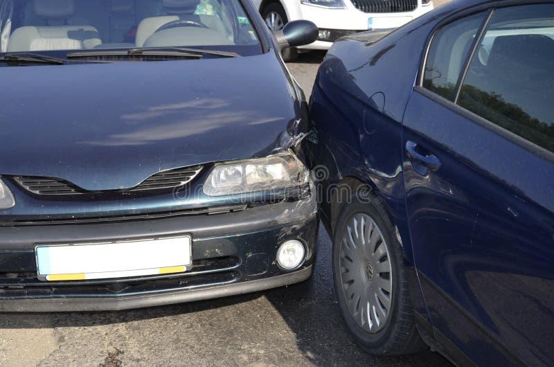 Auto bilolycka royaltyfria bilder