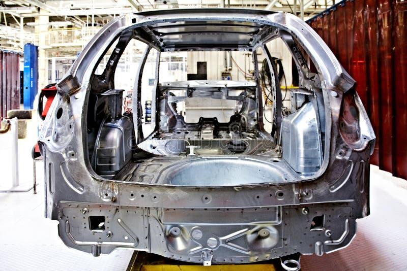 Auto body at car plant royalty free stock photos
