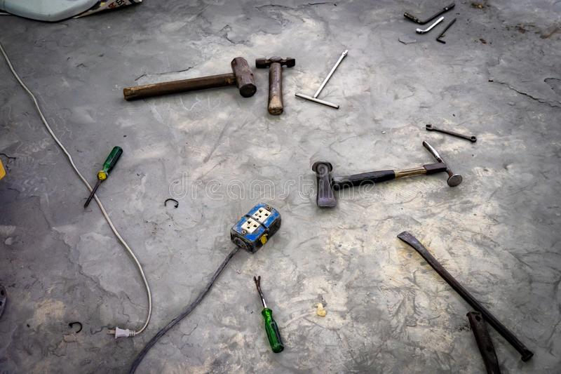 Auto Body Repair Tools royalty free stock image