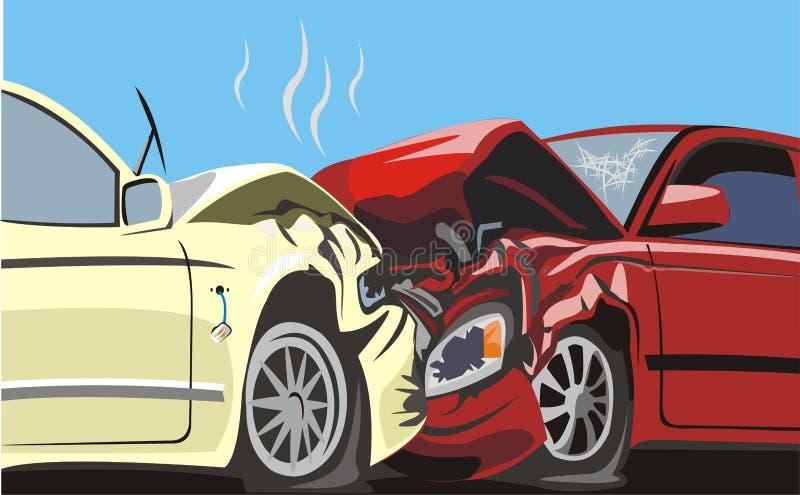 Auto botsing royalty-vrije illustratie