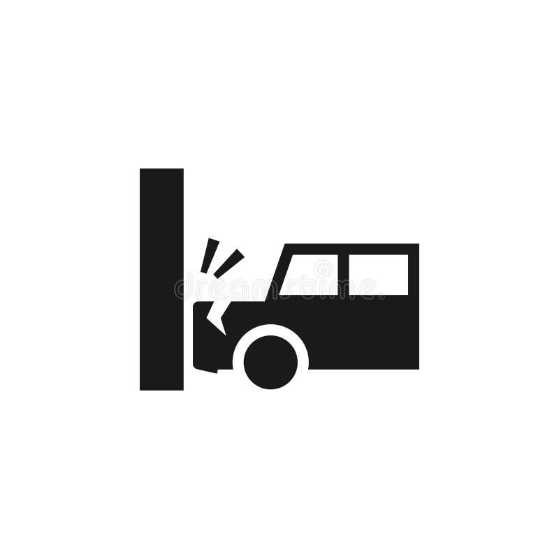 Auto, auto, botsing, geraakt pictogram - Vector De vectorillustratie van het verzekeringsconcept royalty-vrije illustratie