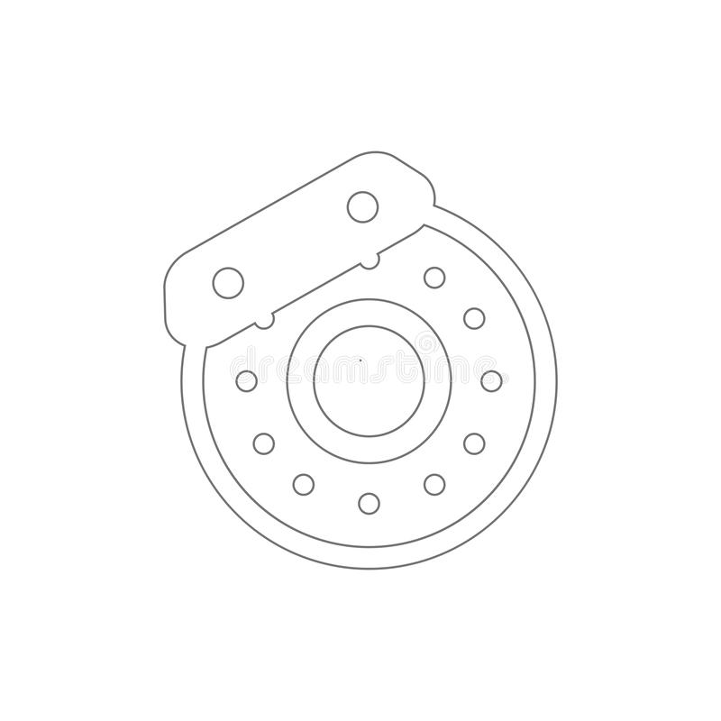 Auto brake disc outline icon. Elements of car repair illustration icon. Signs and symbols can be used for web, logo, mobile app,. UI, UX on white background vector illustration