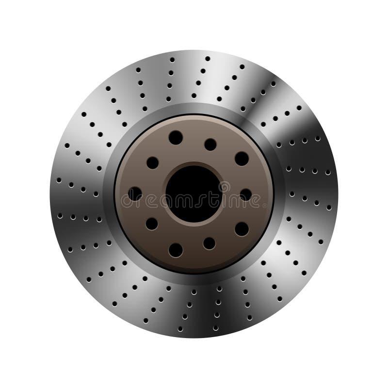Auto brake disc on white royalty free illustration