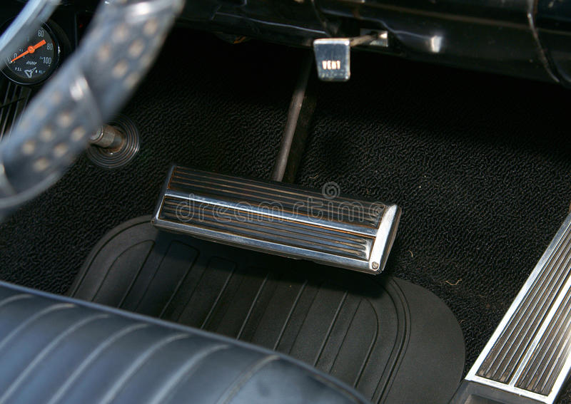 Download Auto Brake Pedal stock image. Image of foot, down, classic - 16492489