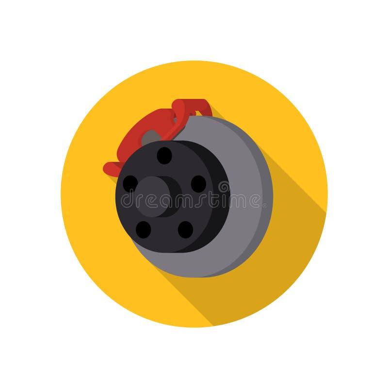 Auto, car, automotive brake vector icon stock illustration