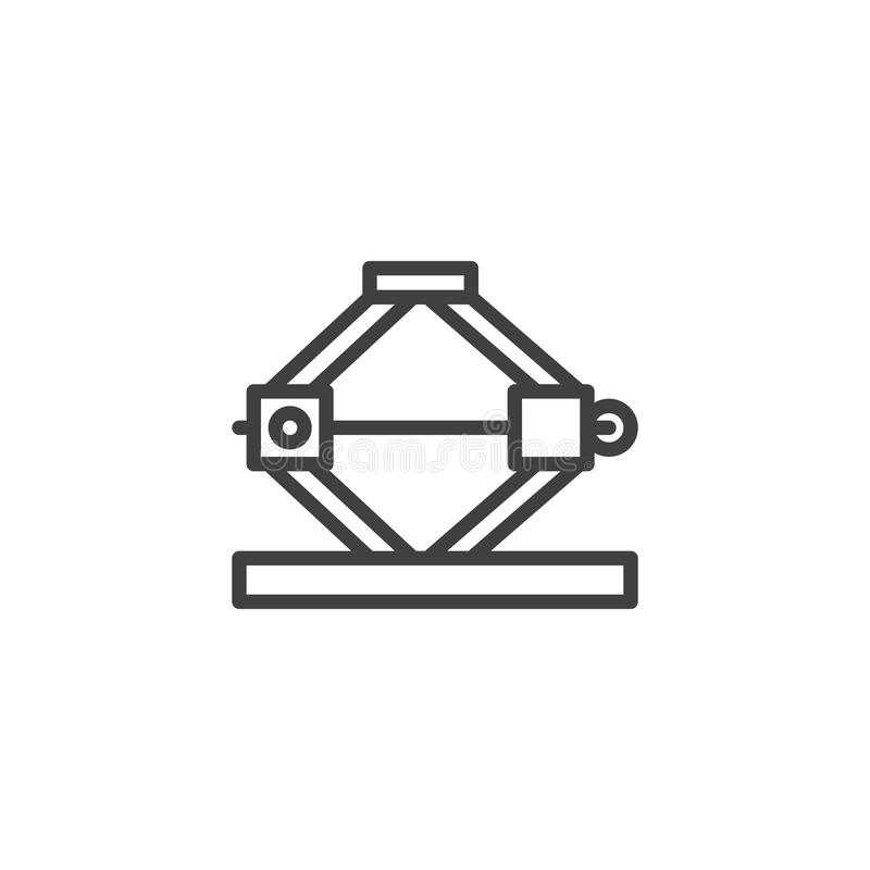 Auto car lifter outline icon stock illustration