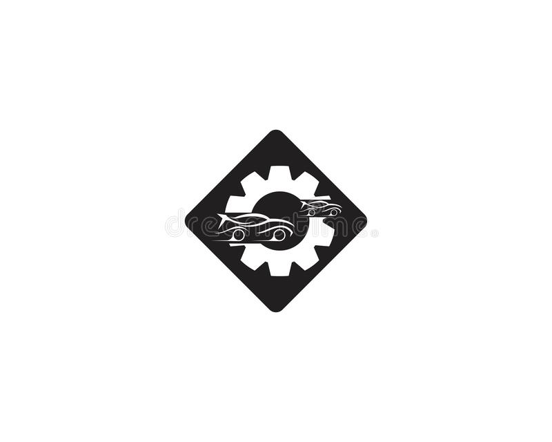 Auto car service logo template.  stock illustration