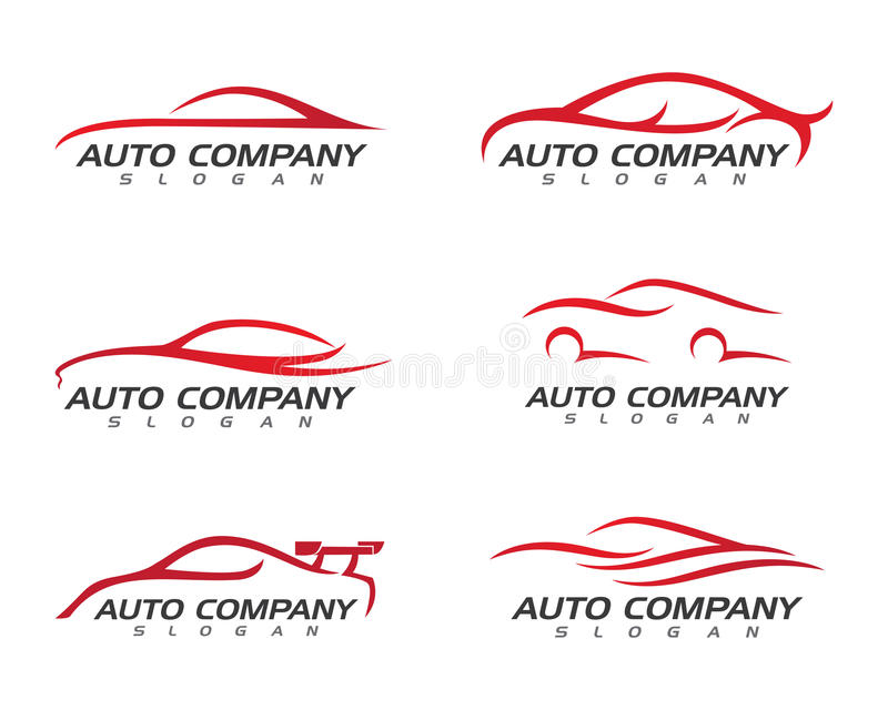 Auto carro Logo Template ilustração stock