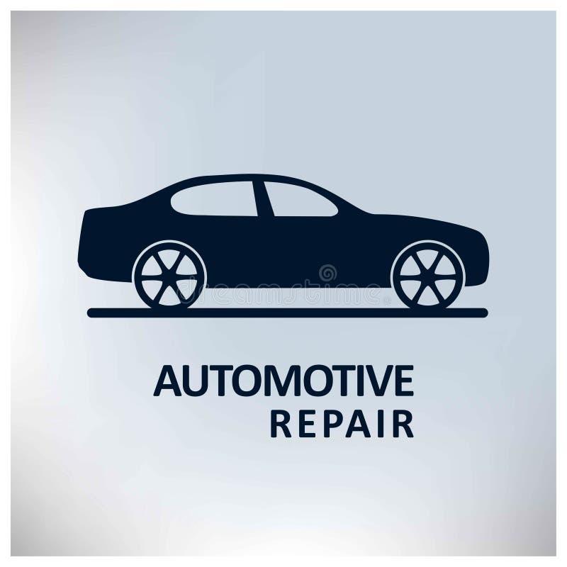 Auto centro Serviço de reparação de automóveis Carro Fundo cinzento ilustração do vetor