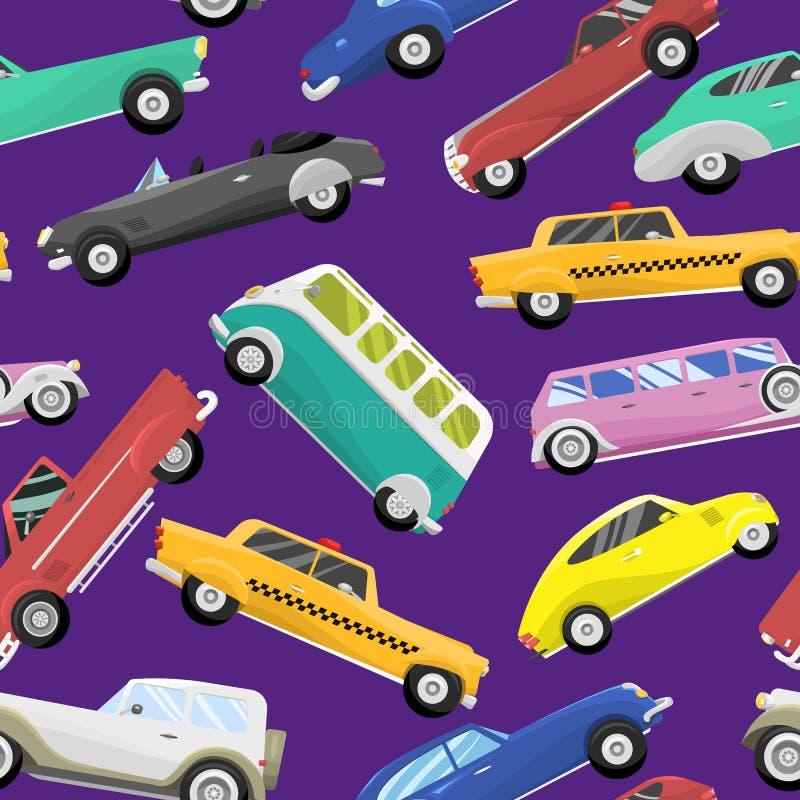 Auto classica del retro di vecchio stile dell'automobile di vettore del veicolo dell'automobile di velocità di sport di trasporto illustrazione vettoriale