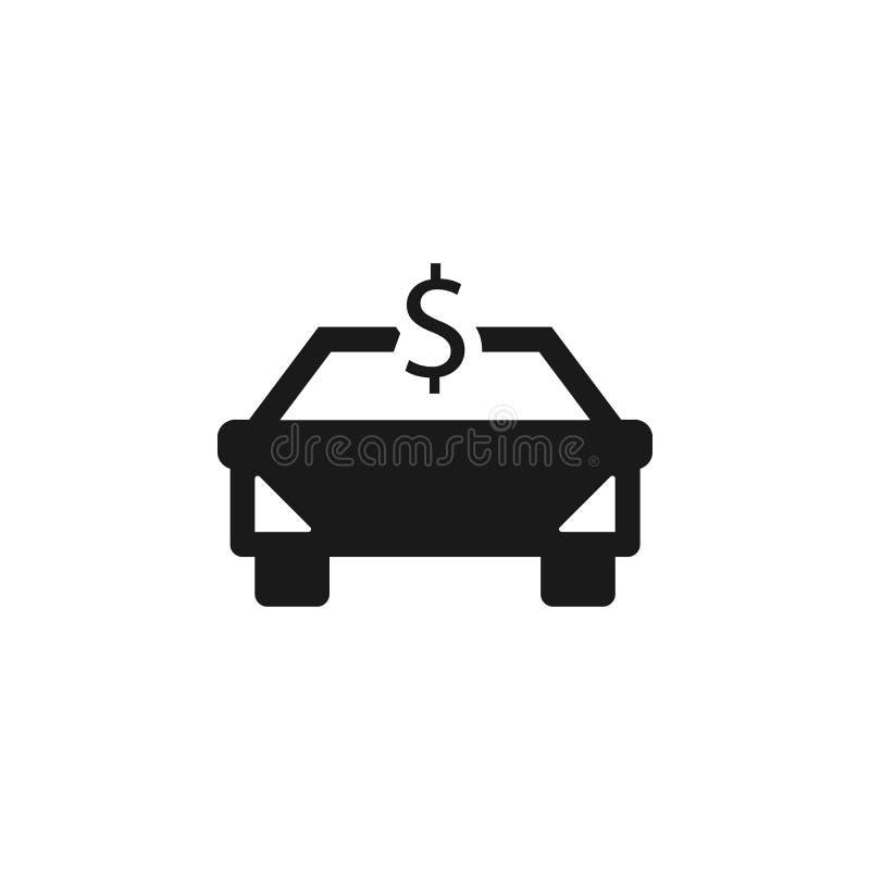 Auto, compensazione, diretta, icona dei soldi - vettore Illustrazione di vettore di concetto di assicurazione illustrazione vettoriale