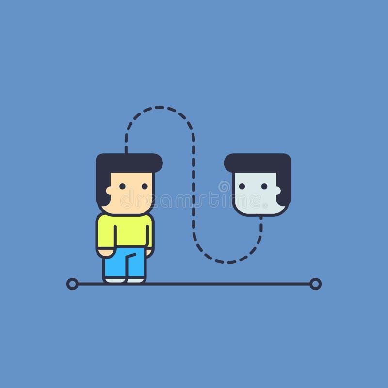 Auto-conversa ilustração royalty free
