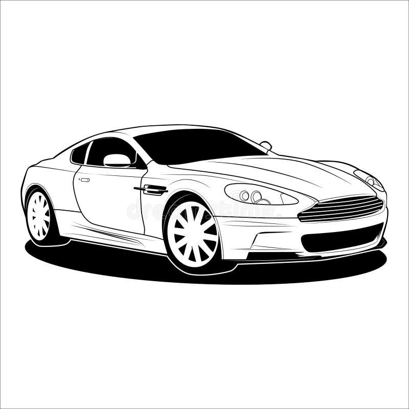 Auto-Coupé-Vektor lizenzfreie abbildung